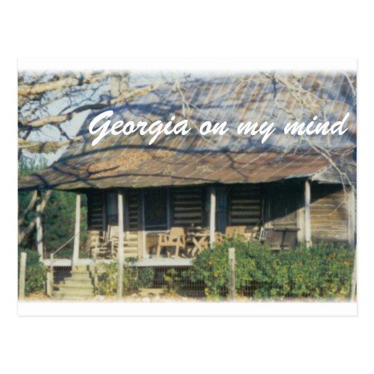 Berlin Cabin, Georgia on my mind Postcard