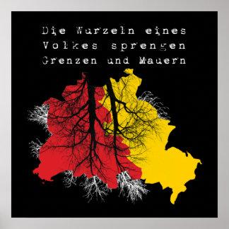 Berlín caída del muro de berlín póster