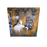 Berlin camera Graffiti Street art, real world art Canvas Print