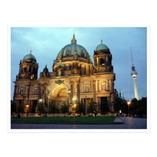 berlin cathedral and tower postcard