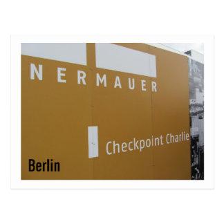 Berlin Checkpoint Charlie Postcard