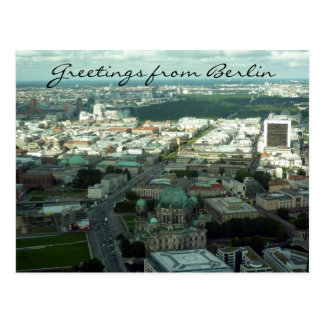 berlin city greetings postcard