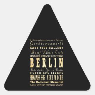 Berlin City of Germany Typography Art Triangle Sticker