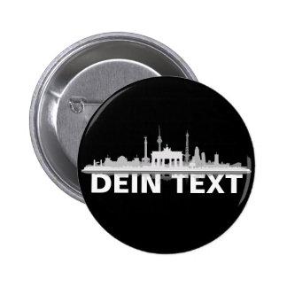 Berlin city of skyline - button/Anstecker/pin Pinback Button