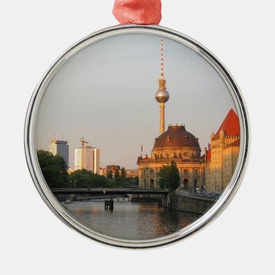 Berlin City View on river Spree Metal Ornament