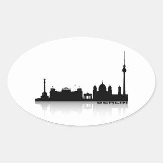 Berlín Cityscape_2 Pegatina Ovalada