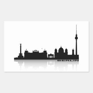 Berlín Cityscape_2 Pegatina Rectangular