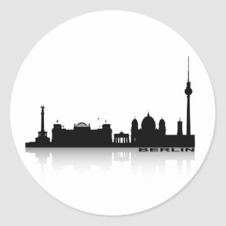 Berlín Cityscape_2 Pegatina Redonda