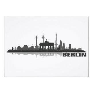 """Berlín ciudad horizonte - postal, Klappkarte/ Invitación 4.5"""" X 6.25"""""""