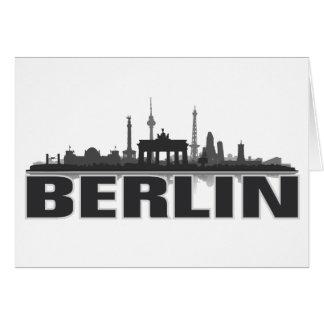 Berlín ciudad horizonte - postal, Klappkarte/ Tarjeta De Felicitación