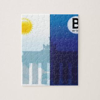 Berlín con día y noche - Brandenburger portería Puzzle