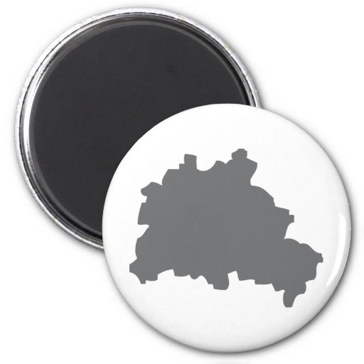 Berlin contour icon 2 inch round magnet