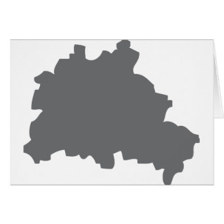 Berlin contour icon greeting card