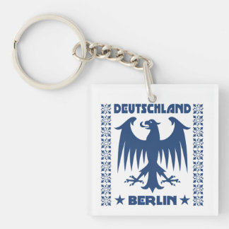 Berlin Deutschland German Eagle Double-Sided Square Acrylic Keychain