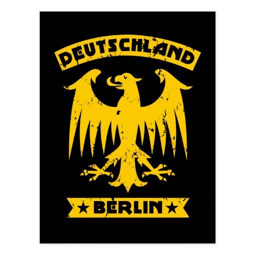 Berlin Deutschland German Eagle Post Card