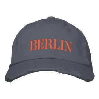 BERLIN EMBROIDERED BASEBALL CAP