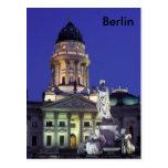 Berlín en luces de la noche postal