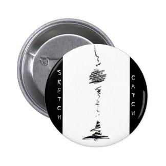 Berlin Fernsehturm Black&White Button
