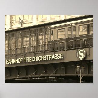 Berlin Friedrichstraße 001.F.01, Station Poster