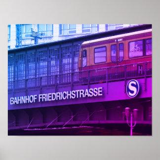 Berlin Friedrichstraße 001.F.02, Station Poster