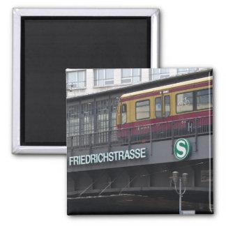 BERLIN Friedrichstraße, S-Bahn, Germany 2 Inch Square Magnet