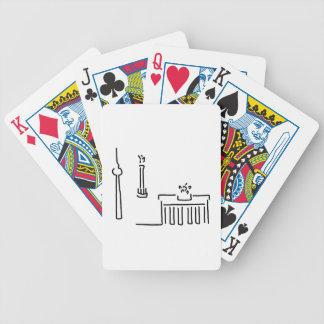 Berlin gate TV tower victory column Bicycle Playing Cards