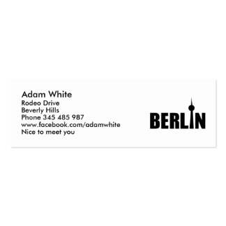 Berlin Germany Double-Sided Mini Business Cards (Pack Of 20)