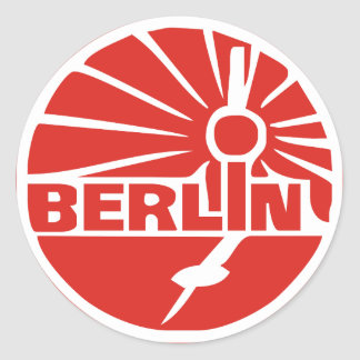 Berlin Germany Classic Round Sticker