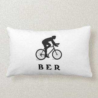 Berlin Germany Cycling BER Lumbar Pillow