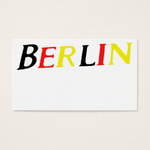 Berlin germany business cards templates zazzle berlin germany in colours of flag business card reheart Choice Image