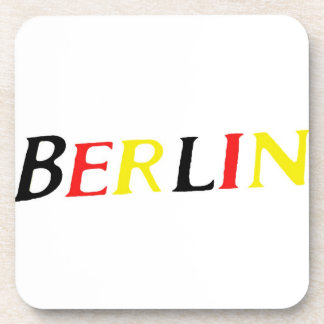 Berlin, Germany in Colours of Flag Drink Coaster
