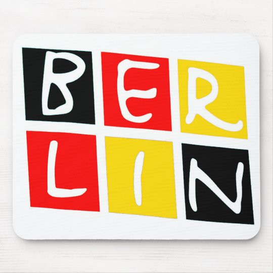 Berlin, Germany Logo in Squares Mouse Pad