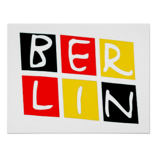 Berlin, Germany Logo in Squares Poster