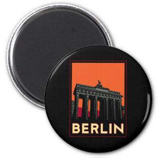 berlin germany oktoberfest art deco retro travel 2 inch round magnet