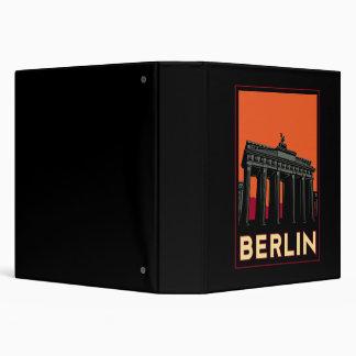 berlin germany oktoberfest art deco retro travel 3 ring binder