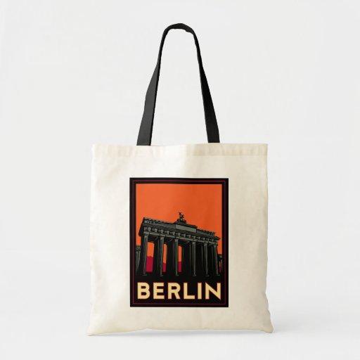 berlin germany oktoberfest art deco retro travel budget tote bag
