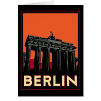 berlin germany oktoberfest art deco retro travel card