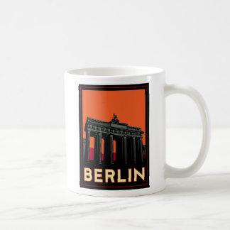 berlin germany oktoberfest art deco retro travel classic white coffee mug