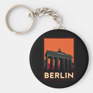 berlin germany oktoberfest art deco retro travel keychains