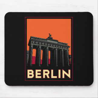 berlin germany oktoberfest art deco retro travel mouse pad