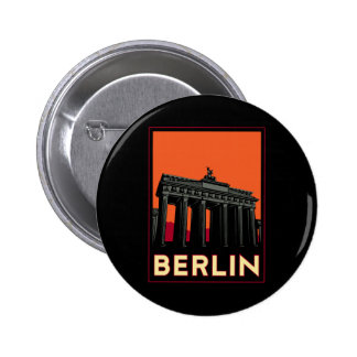 berlin germany oktoberfest art deco retro travel pinback button