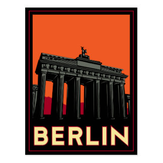 berlin germany oktoberfest art deco retro travel postcard
