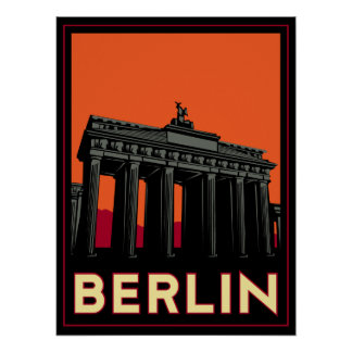 berlin germany oktoberfest art deco retro travel poster