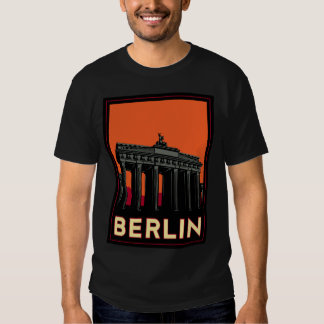 berlin germany oktoberfest art deco retro travel t-shirt