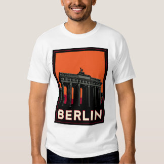 berlin germany oktoberfest art deco retro travel t shirt