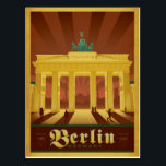 "Berlin, Germany Postcard<br><div class=""desc"">Anderson Design Group is an award-winning illustration and design firm in Nashville,  Tennessee. Founder Joel Anderson directs a team of talented artists to create original poster art that looks like classic vintage advertising prints from the 1920s to the 1960s.</div>"