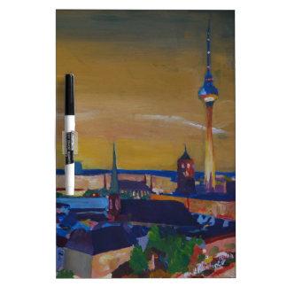 Berlin Germany Skyline at Dusk Dry-Erase Boards