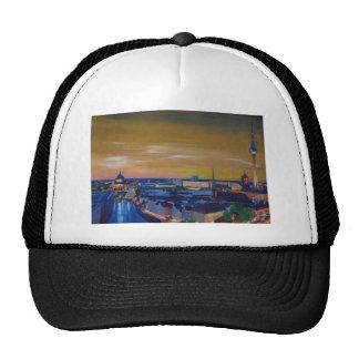 Berlin Germany Skyline at Dusk Trucker Hat