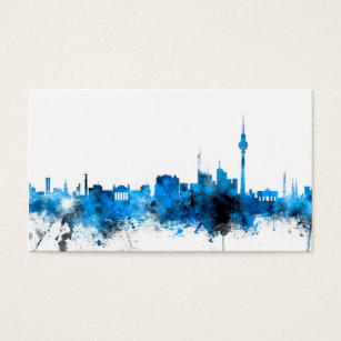 Berlin germany business cards templates zazzle berlin germany skyline business card reheart Choice Image