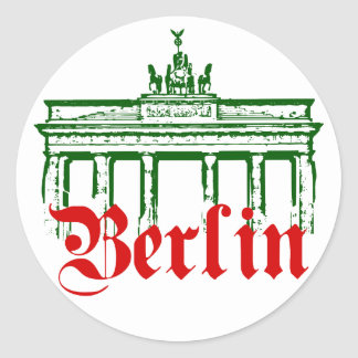 Berlin Germany Round Stickers